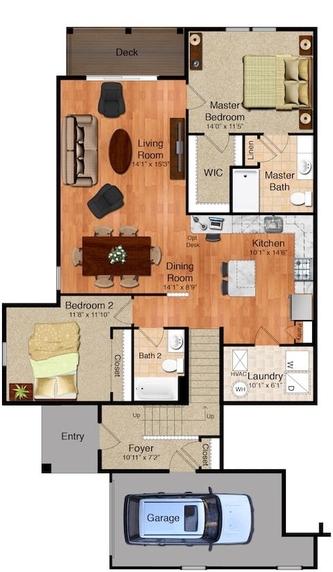 Highland Creek Village - The Camden Floorplan