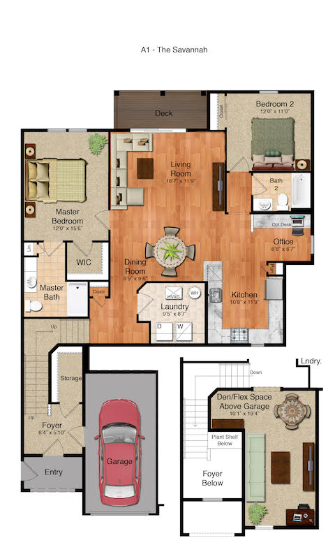 Highland Creek Village - The Savannah Floorplan