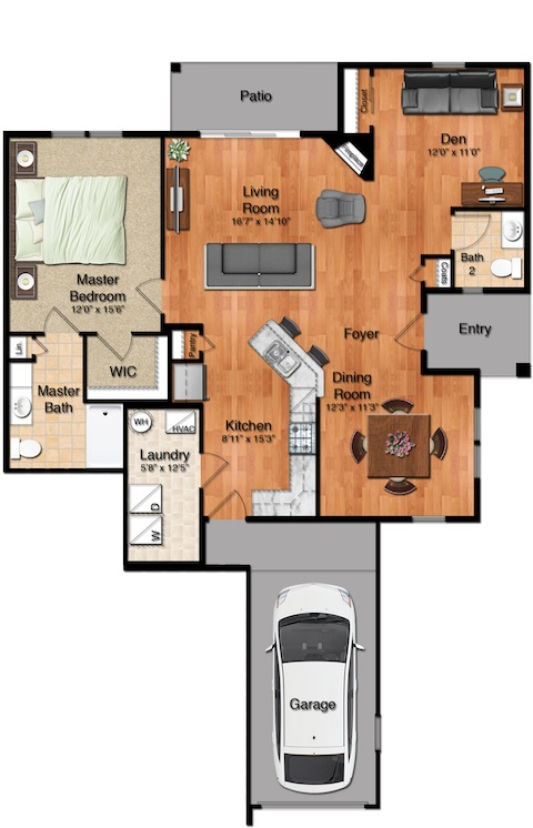 Parkside Village - The Lexington Floorplan