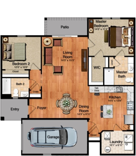 Parkside Village - The Palmetto Floorplan