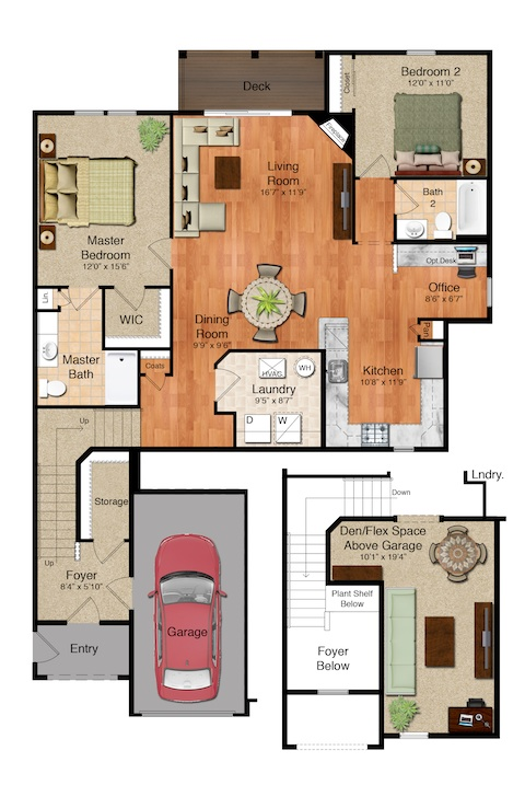 Parkside Village - The Savannah Floorplan